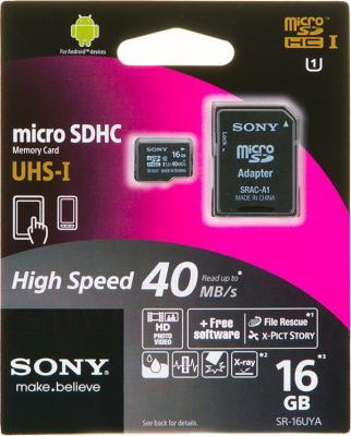 Карта памяти MicroSD Sony SR16UYA (аксессуар для Sony Xperia)