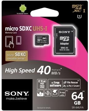 Карта памяти MicroSD Sony SR64UYA (аксессуар для Sony Xperia)