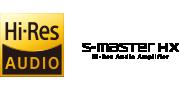 Hi-Res & S-master HX logos