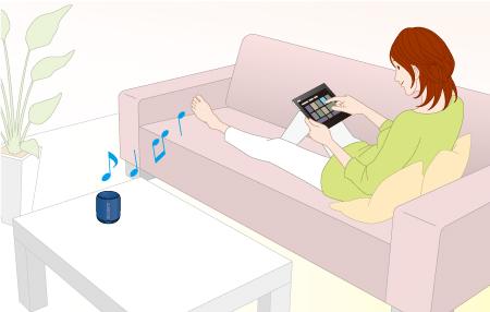 Sony SRSXB10 Подключение Bluetooth® с помощью технологии NFC