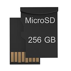 Благодаря гнезду для карты памяти microSD места хватит на всё.